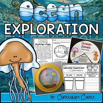Ocean Exploration Unit: All About Ocean Life, Animals, and Zones!