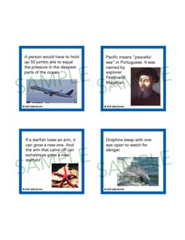 Ocean Unit Activity - Fun Fact Cards for Games, Bulletin Board