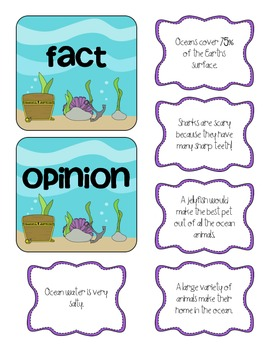 Ocean Fact & Opinion Sort