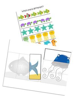 Ocean File Folder Activities