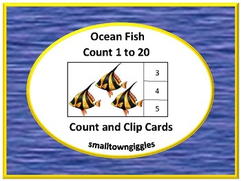 Ocean, Counting to 20, Count and Clip, Kindergarten Math, Special Education Math