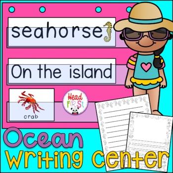 Ocean Flashcards Theme Poster Writing Center Rings