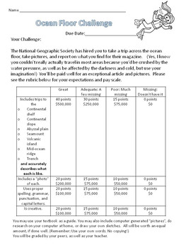 Ocean Floor Challenge