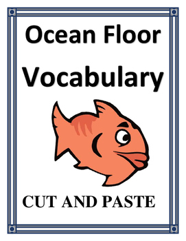 OCEAN FLOOR VOCABULARY