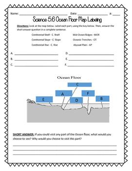Ocean Floor Map Labeling