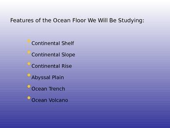 Ocean Floor PowerPoint / Notes