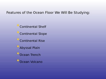 Ocean Floor PowerPoint / Notes