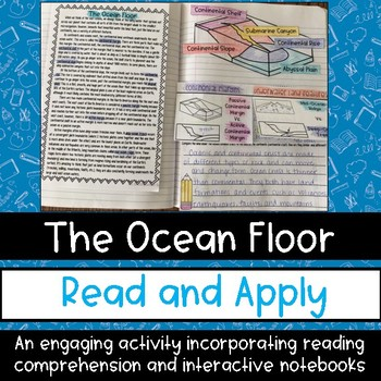 Ocean Floor Science Reading Passage Interactive Notebook