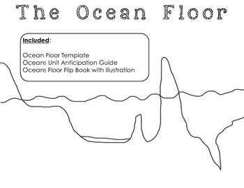 Ocean Floor Templates and Anticipation Guide