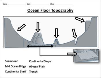 Ocean Floor Topography 3D Printed Model