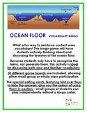 Ocean Floor Vocabulary Bingo