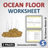 Ocean Floor Worksheet