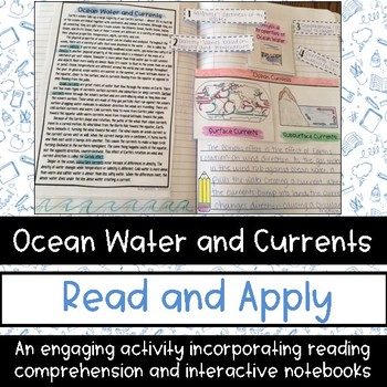 Ocean Currents Reading Comprehension Interactive Notebook