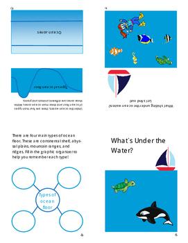 Ocean Floor and Ocean Zones Book / Booklet