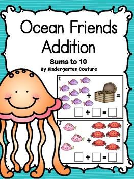 Ocean Friends Addition With Bonus I See Tiny CVC Words