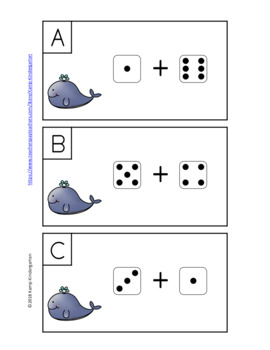 Ocean Friends Addition Within 10 Dice Add the Room