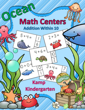 Ocean Friends Addition Within 10 Math Centers