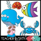 Ocean Friends Clipart BUNDLE - 59 Graphics