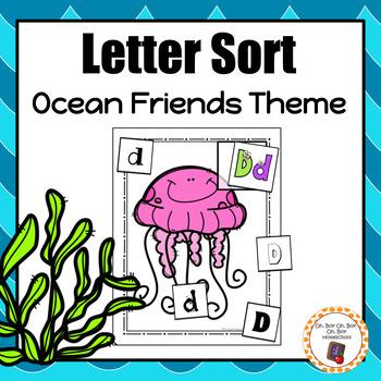 Ocean Friends Letter Sort - S