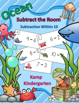 Ocean Friends Subtraction Within 10 Subtract the Room
