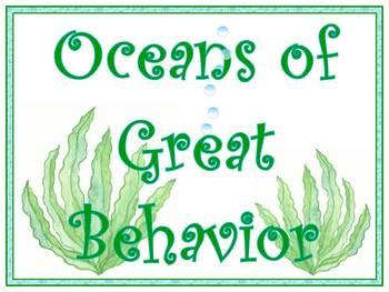 Ocean Friends Themed Behavior Clip Chart