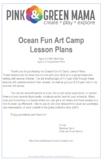 Ocean Fun Art Camp Lesson Plans