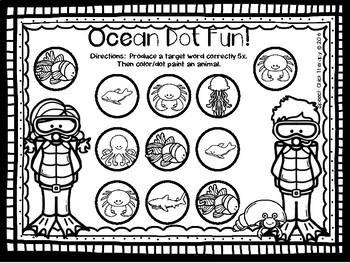 Ocean Fun Articulation Packet