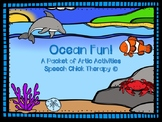 Ocean Fun Articulation Packet