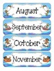 Ocean Fun Calendar Numbers, Months and Days