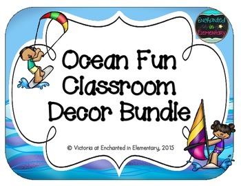 Ocean Fun Classroom Decor Bundle