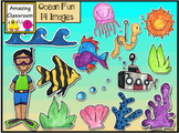 Ocean Fun Clip Art Set