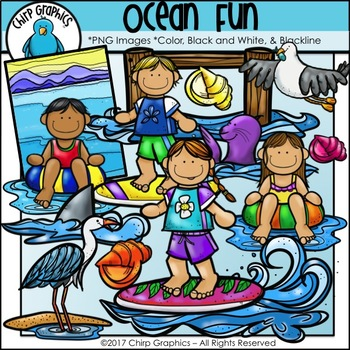 Ocean Fun Clip Art Set - Chirp Graphics