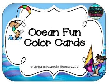 Ocean Fun Color Cards