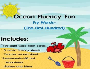 Fry Words 1st 100-Ocean Fun Fluency Red Unit