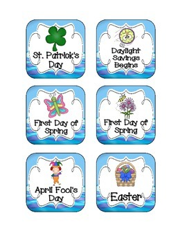 Ocean Fun Holiday Calendar Pieces