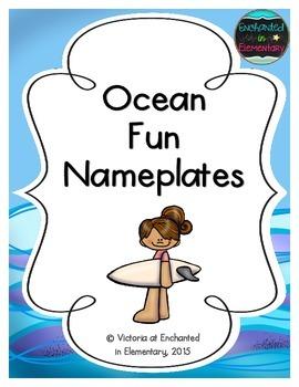 Ocean Fun Nameplates