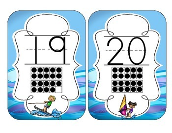 Ocean Fun Number Cards 1-20