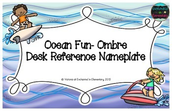 Ocean Fun Ombre Desk Reference Nameplates