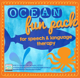 Ocean Fun Pack for Speech & Language Therapy | NO PREP Act