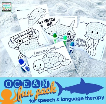 Ocean Fun Pack {NO PREP for speech & language therapy!}