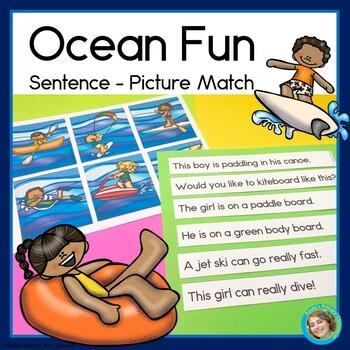 Ocean Fun Sentence Picture Match