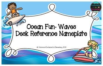 Ocean Fun Waves Desk Reference Nameplates