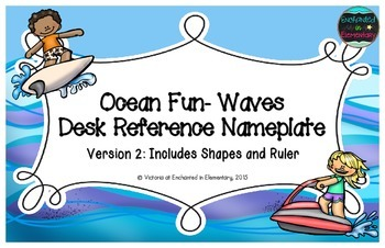 Ocean Fun Waves Desk Reference Nameplates Version 2