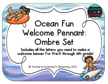 Ocean Fun Welcome Pennant: Ombre Set