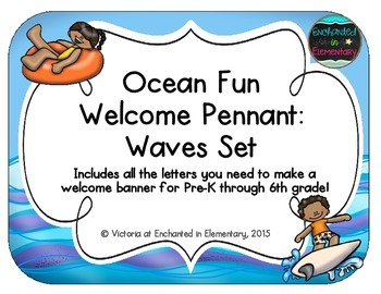 Ocean Fun Welcome Pennant: Waves Set