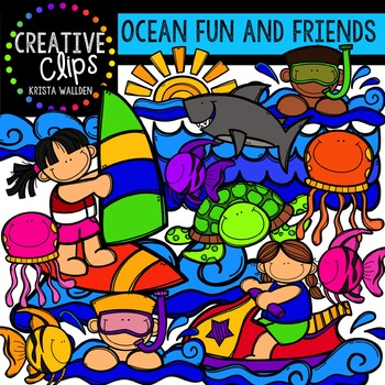 Fun and Friends Ocean Clipart {Creative Clips Clipart}