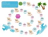 Ocean Game Board-Editable (Moana, Beach theme)