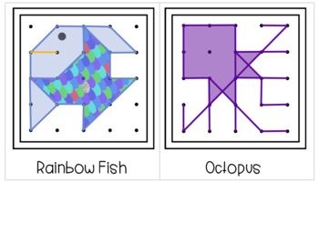 Ocean Geoboard Shapes