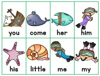 Ocean Go Fish Sight Word Game