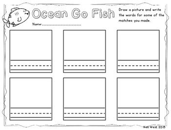 Ocean Go Fish Sight Word Game